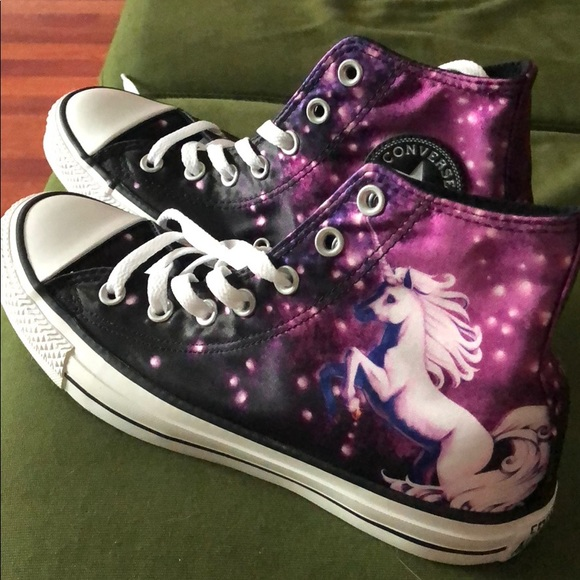 40c25895d3ca Converse Shoes - Unicorn galaxy Converse hi tops